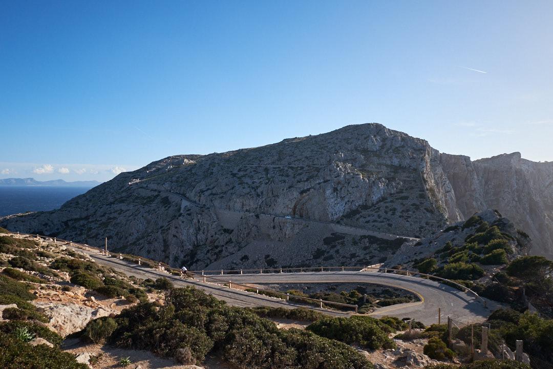 Mallorca Formentor paisaje carretera ciclismo